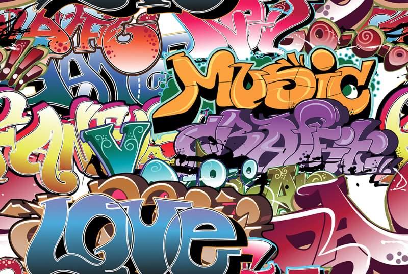 Fotobox mieten Greenscreen Hintergruende Grafitti